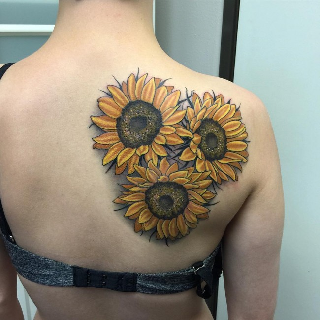 80+ Bright Sunflower Tattoos - Designs & Meanings for ...