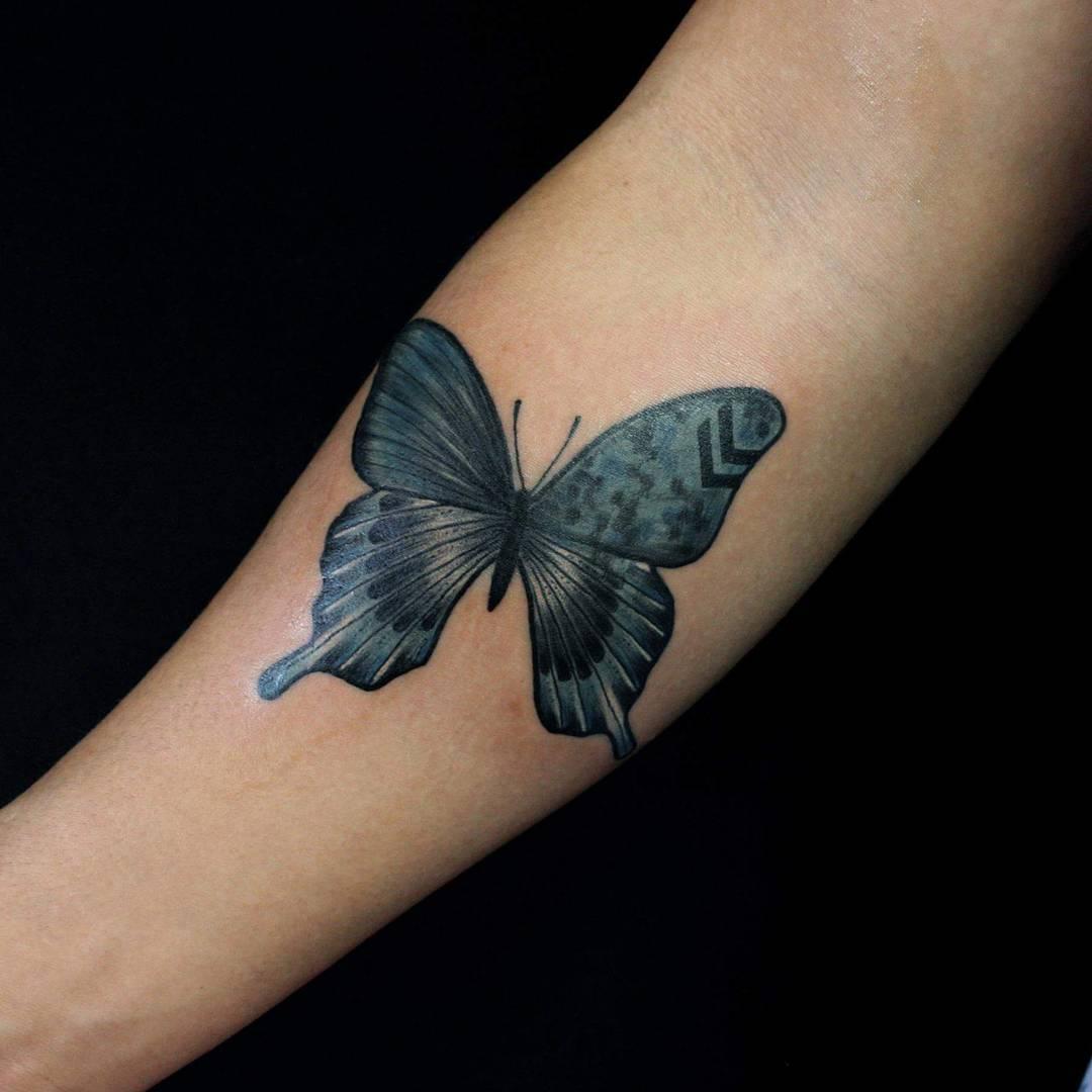 41df2968672aa 110+ Best Butterfly Tattoo Designs & Meanings - Cute & Beautiful (2019)