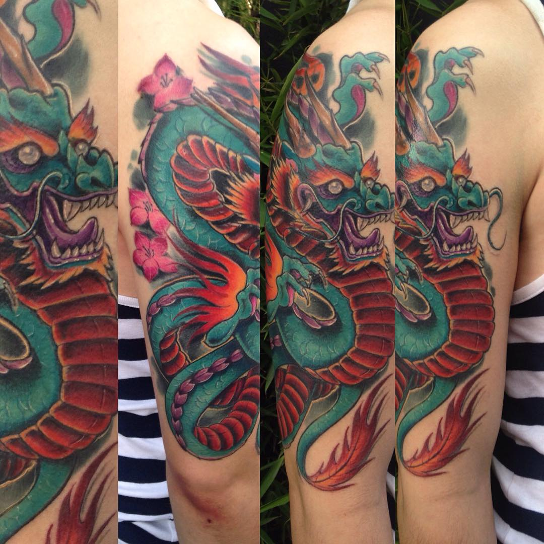 75 unique dragon tattoo designs u0026 meanings cool mythology 2017