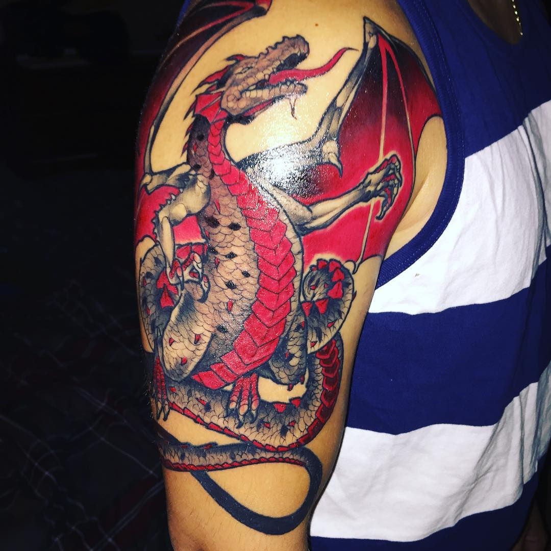 75+ Unique Dragon Tattoo Designs & Meanings - Cool ...