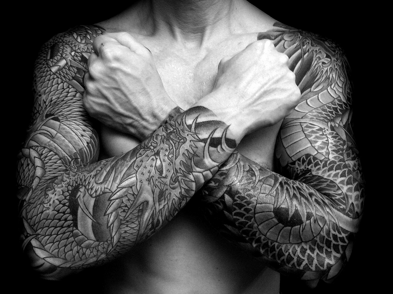 75 unique dragon tattoo designs meanings cool for Japanese sleeve tattoos meanings