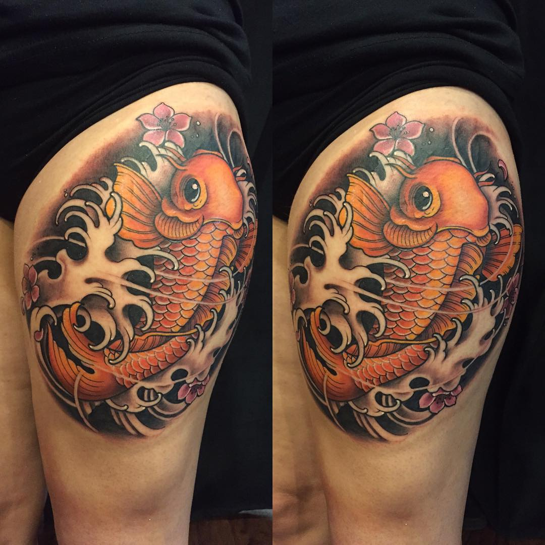 65 japanese koi fish tattoo designs meanings true for Japanese coy fish tattoo