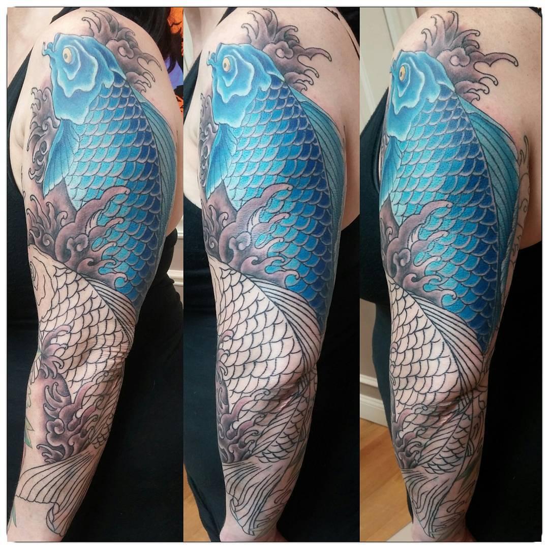 Koi Fish Tattoo Designs On Chest