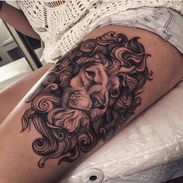 Breathtaking Leo Tattoos That Make You Proud To Be A Leo: 55 Amazing Wild Lion Tattoo Designs And Meaning