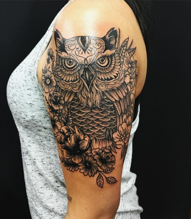 owl tattoo (2)
