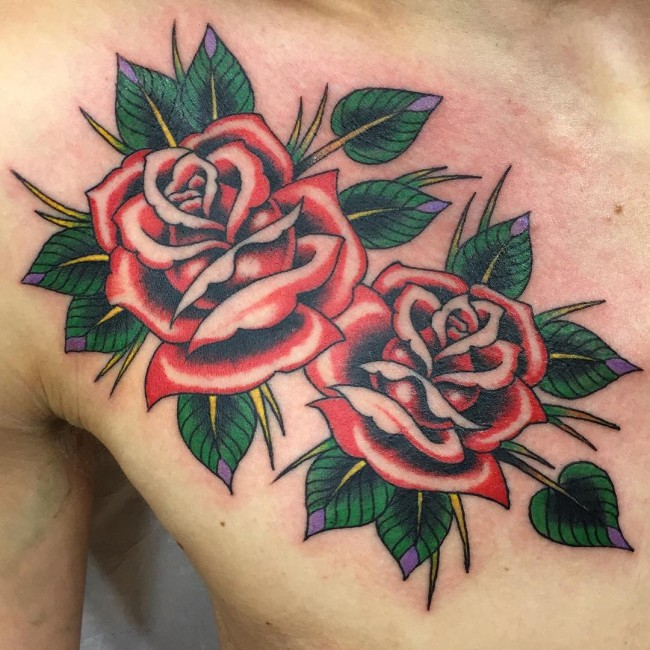 50 stylish roses tattoo designs and meaning for Rose tattoo patterns