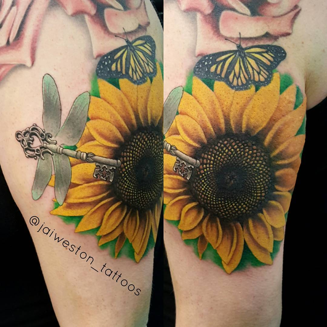 80+ Bright Sunflower Tattoos - Designs & Meanings for