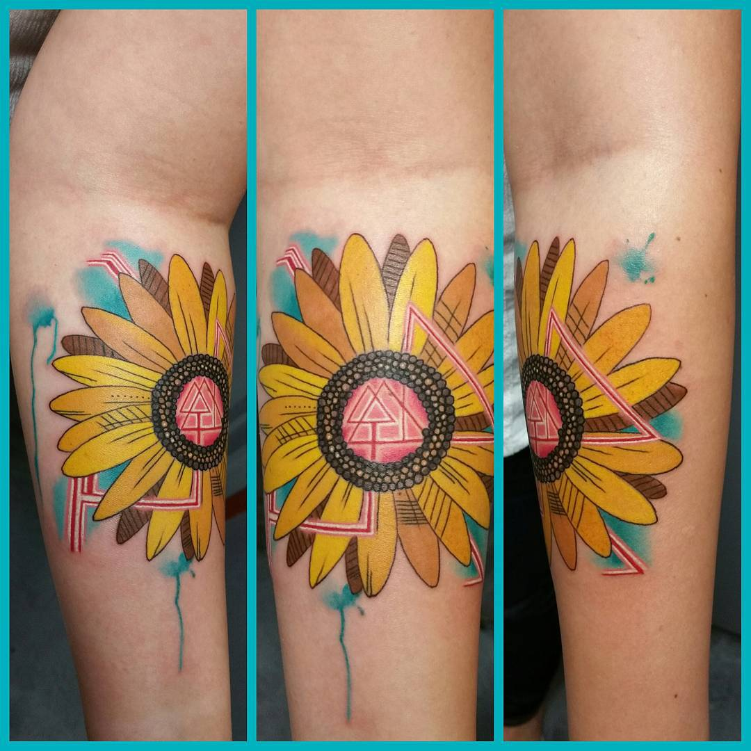 80 Bright Sunflower Tattoos Designs Meanings For Happy Life 2018
