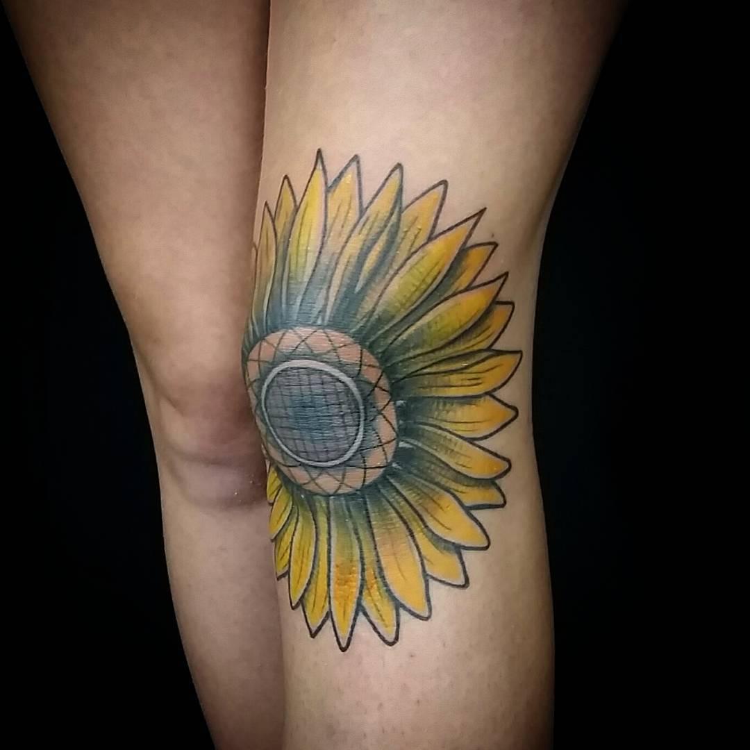 Small Sunflower Tattoo: 45 Bright Photos Of Sunflower Tattoos