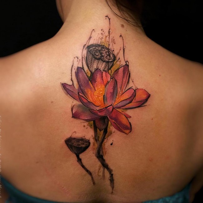 65 watercolor tattoo ideas for Electric lotus tattoo