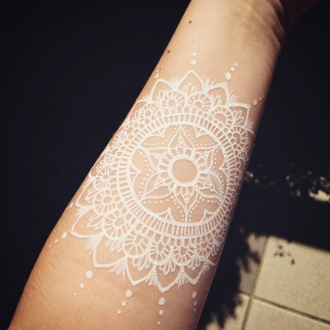 25 unique and elegant white tattoo designs and ideas for Fresh white ink tattoo