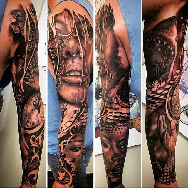 125 sleeve tattoos for men and women designs meanings 2018. Black Bedroom Furniture Sets. Home Design Ideas