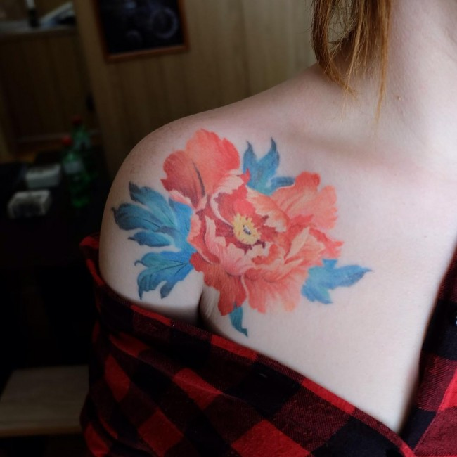 85 Best Peony Tattoo Designs Meanings Powerful Artistic 2018