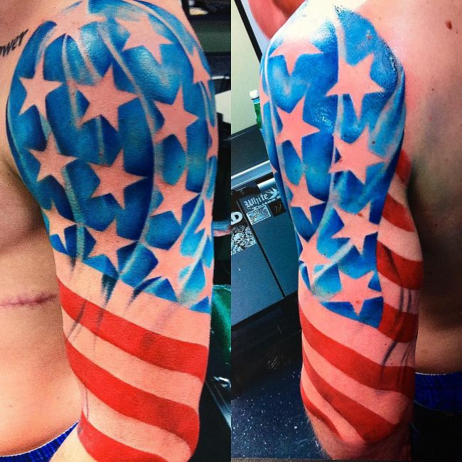 85 Best Patriotic American Flag Tattoos I Love Usa 2019