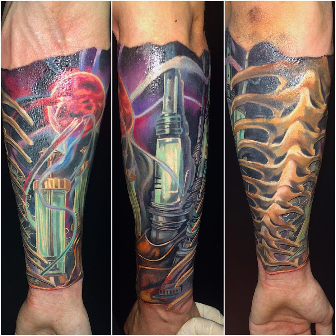 Images Of Biomechanical Tattoos