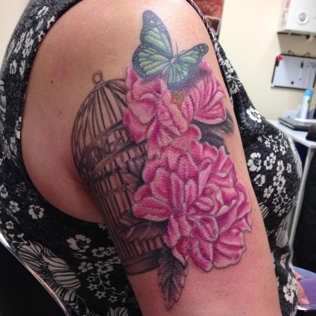Peony Tattoo (1)