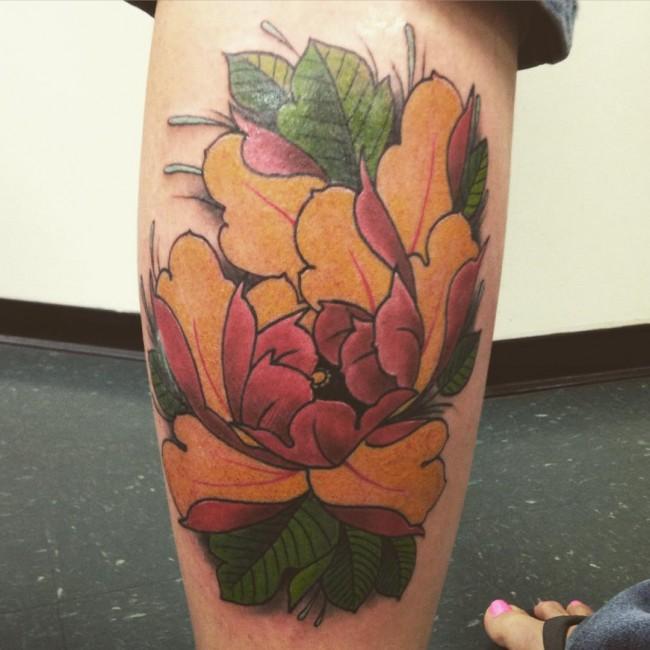 Peony Tattoo (2)