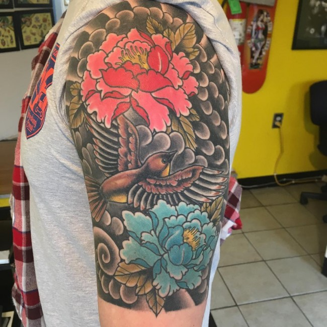 Peony Tattoo (3)