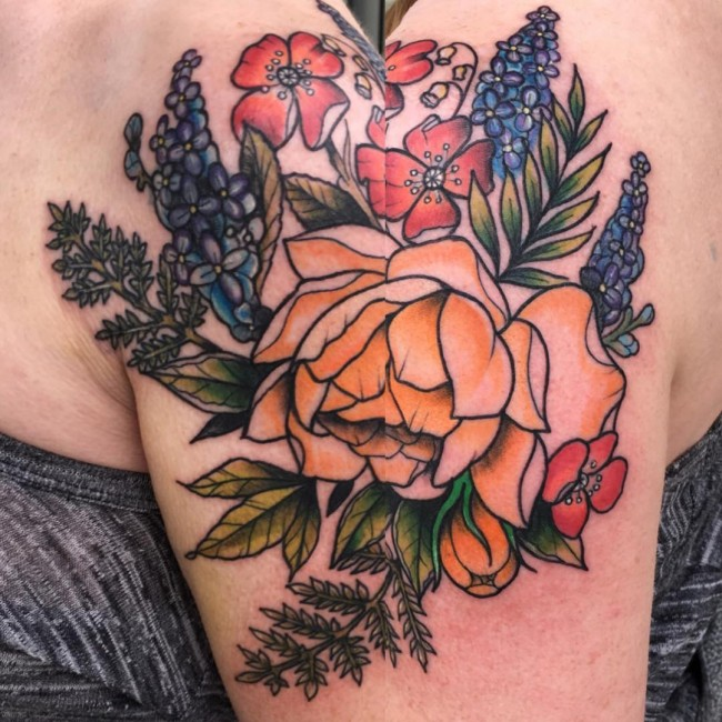 bbad6ab17 85+ Best Peony Tattoo Designs & Meanings - Powerful & Artistic (2019)