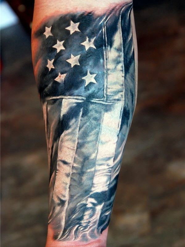 50 independent patriotic american flag tattoos i love usa