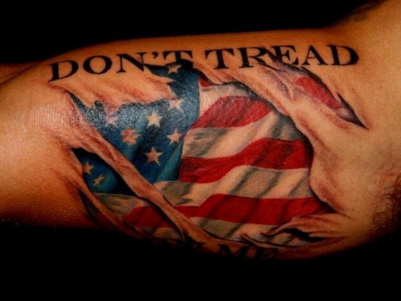 4138af22d5f67 85+ Independent Patriotic American Flag Tattoos Designs & Meanings — I Love  USA (2019)
