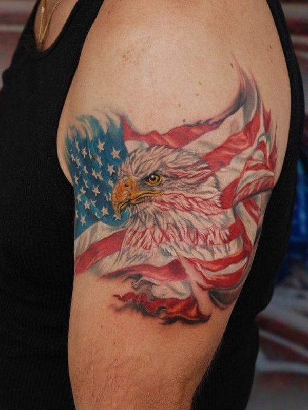 50 independent patriotic american flag tattoos i love usa. Black Bedroom Furniture Sets. Home Design Ideas