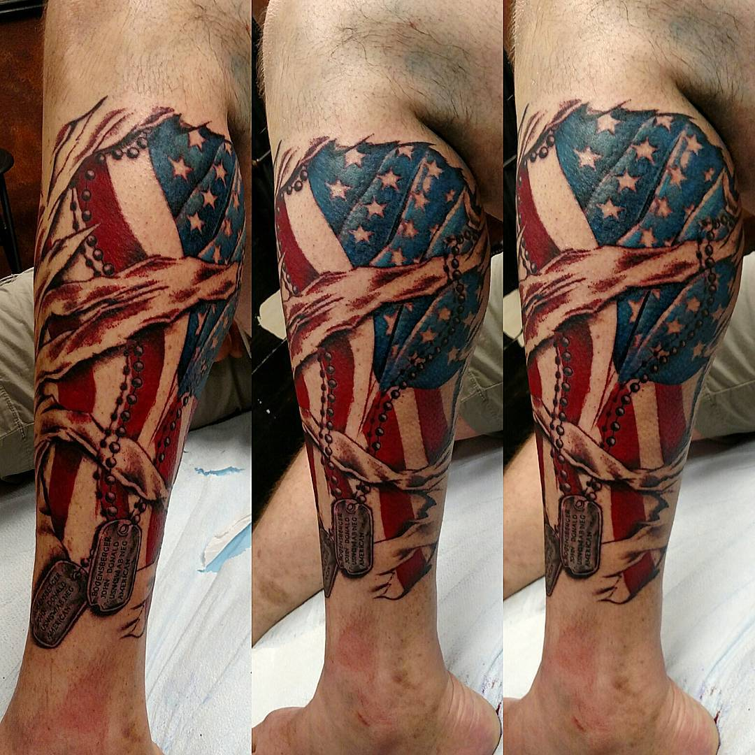 85+ Best Patriotic American Flag Tattoos