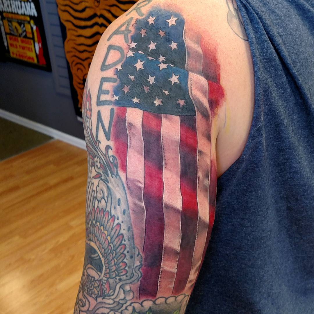 85 best patriotic american flag tattoos i usa 2018