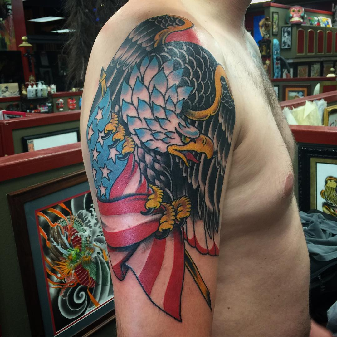 85+ Best Patriotic American Flag Tattoos