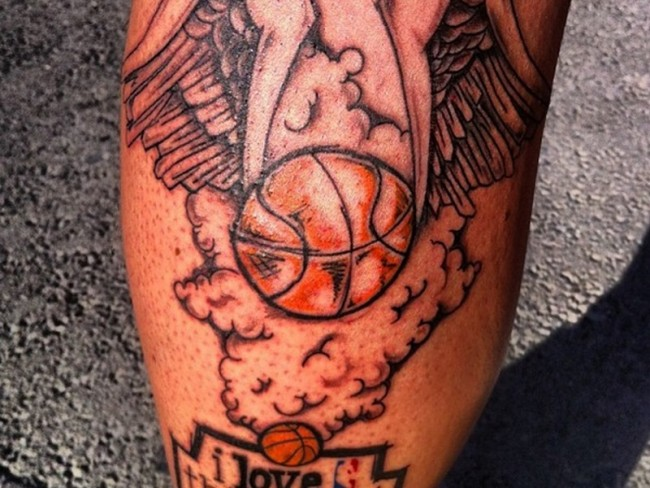 basketball tattoo
