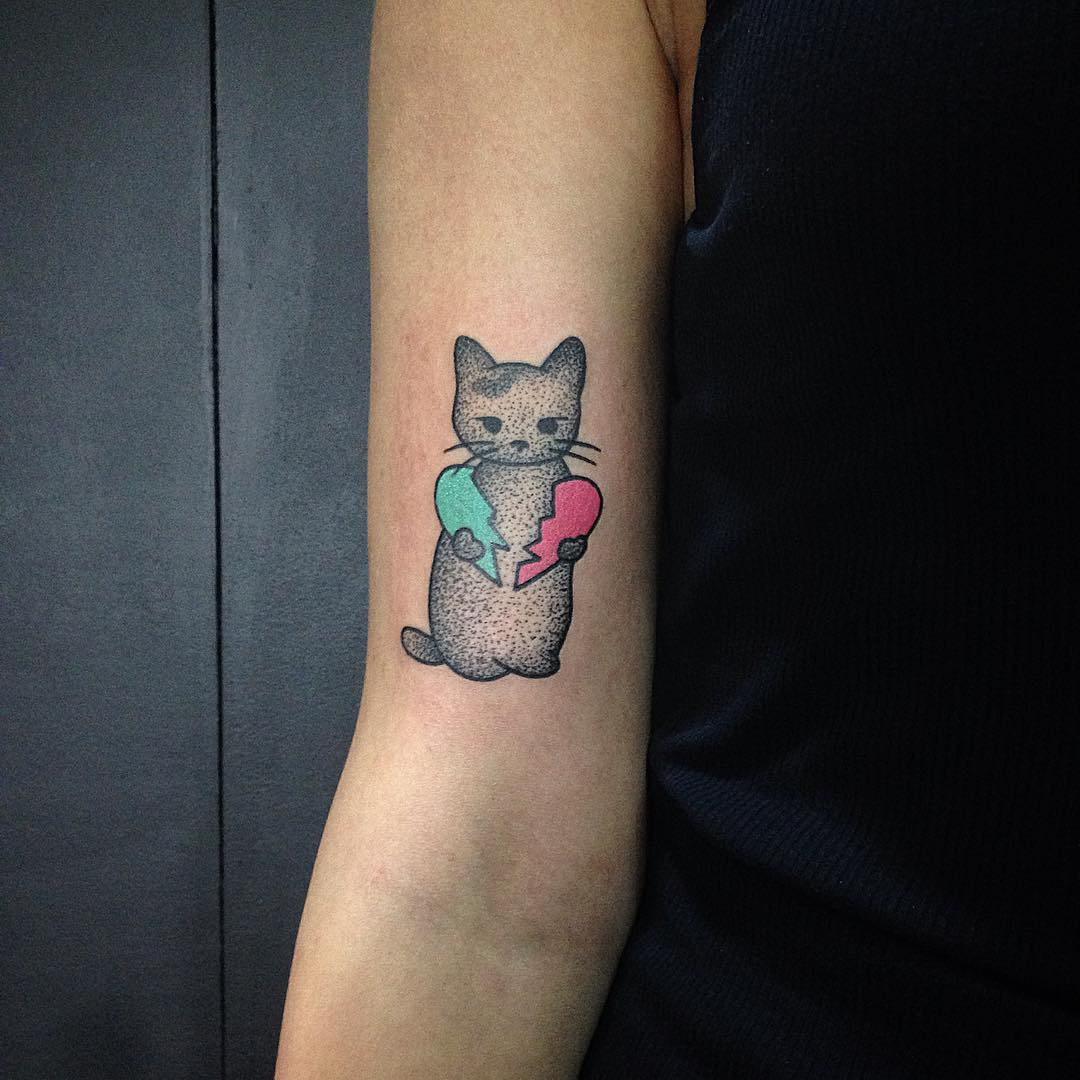 Cute Tattoo Ideas: 45 Cute Cat Tattoo Designs And Ideas