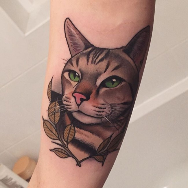 Tattoos Of Tabby Cats Pictures