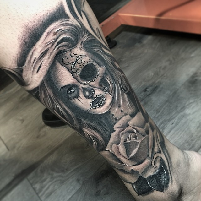 40+ Eye-Catching Day Of The Dead Tattoos