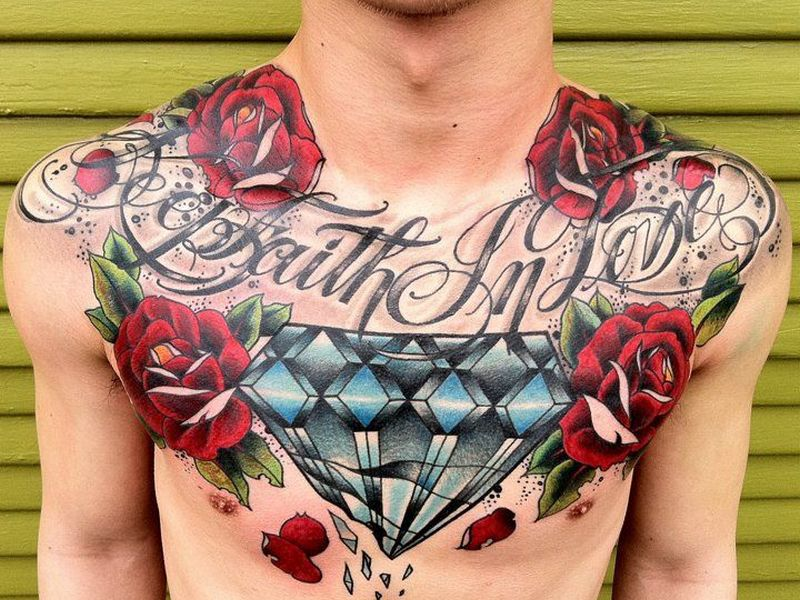 caa9c2349 75+ Best Diamond Tattoo Designs & Meanings - Treasure for You (2019)