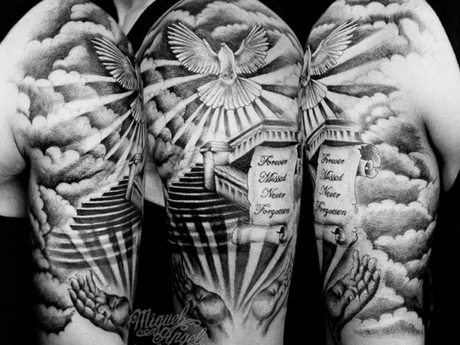75 dove tattoo designs and symbolic meaning peace