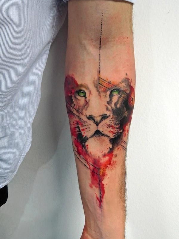 forearm tattoo designs tattoos arm lion cool elbow upper tatto watercolor unique simple tat journal leo idea creative face colour