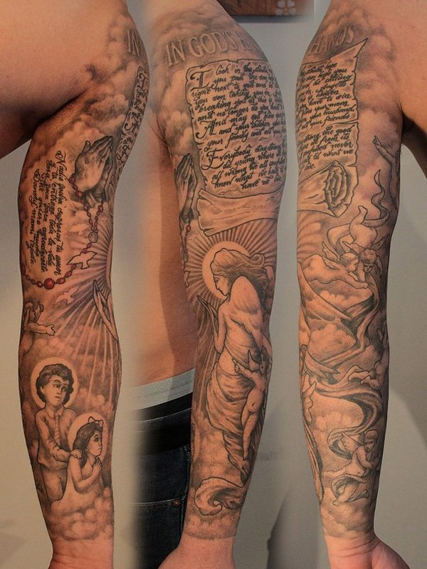 whole sleeve tattoos