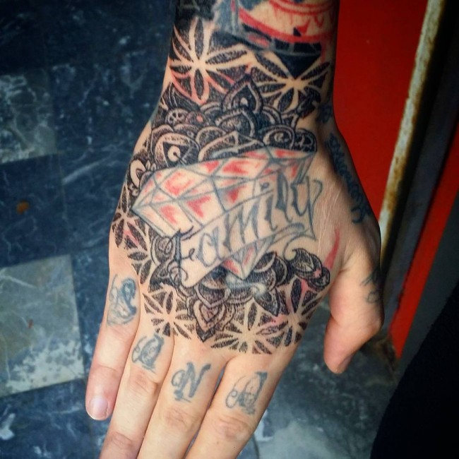 Three Dots Between Thumb And Index Finger: 75+ Best Hand Tattoo Designs