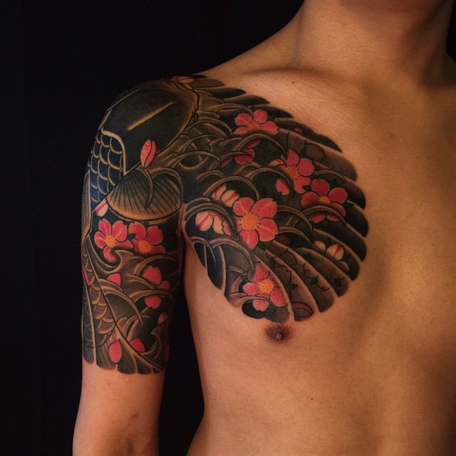 50 spiritual traditional japanese style tattoo meanings for Japanese sleeve tattoos meanings
