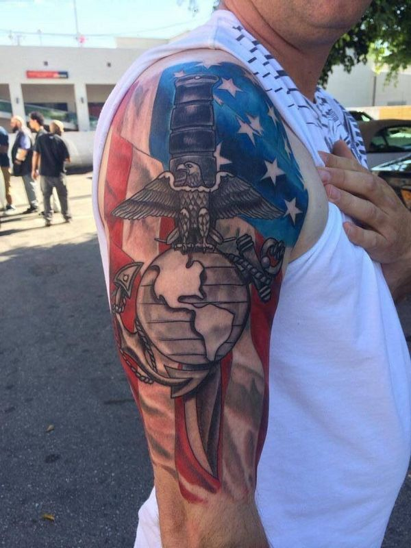 30 best images of military tattoos for Usmc sleeve tattoo ideas