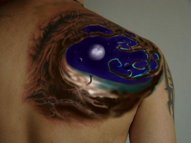 moon tattoo