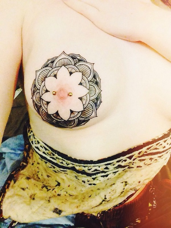 nipple tattoo