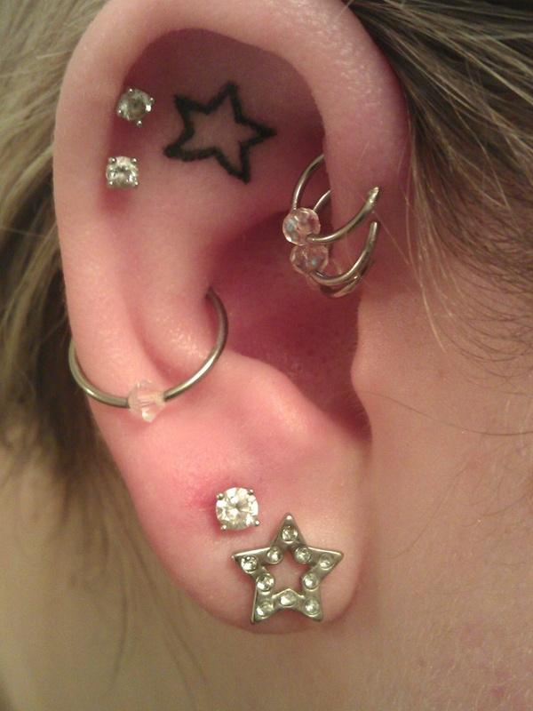 ear tattoo