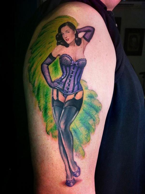 Lady Luck Pin Up Tattoo Designs