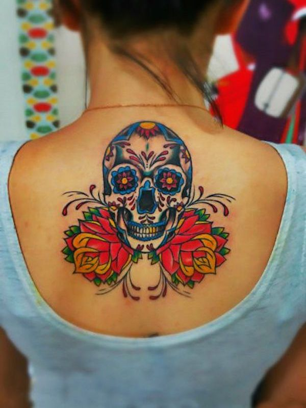 d2f854e397c37 85 Best Sugar Skull Tattoo Designs & Meanings [2019]