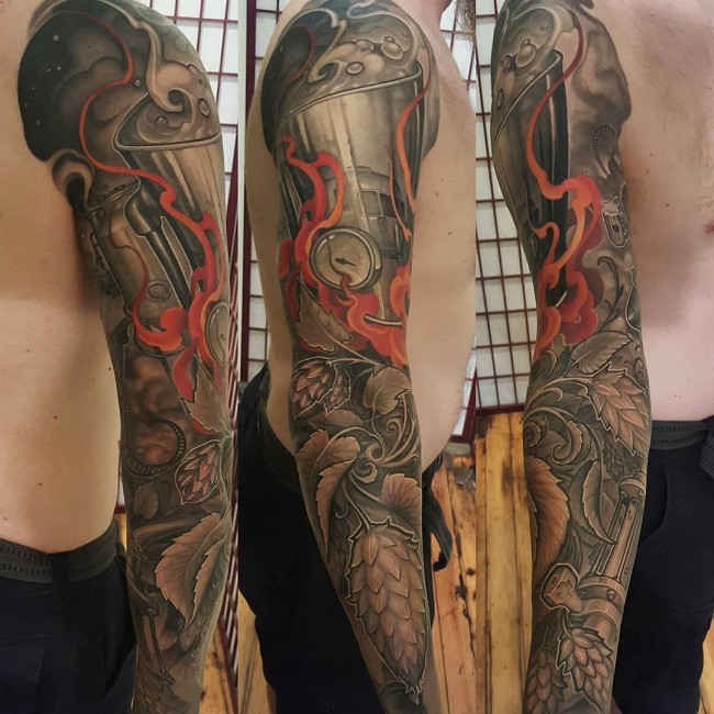 55 best full sleeve tattoos for Forearm tattoo sleeves