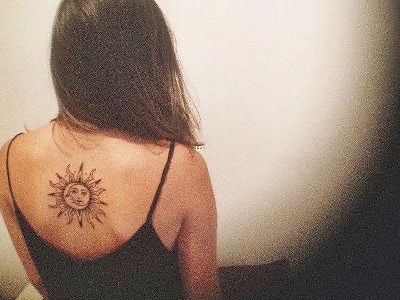 Celestial Sun And Moon Tattoo Designs