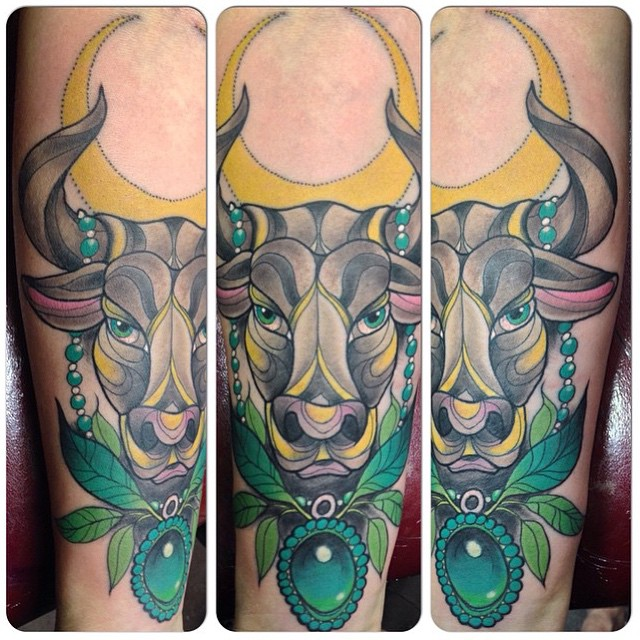 70+ Astrological Taurus Tattoo Designs - Strong-Willed ...