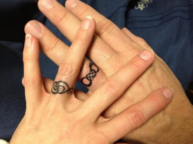 wedding ring tattoo - Wedding Ring Finger Tattoos