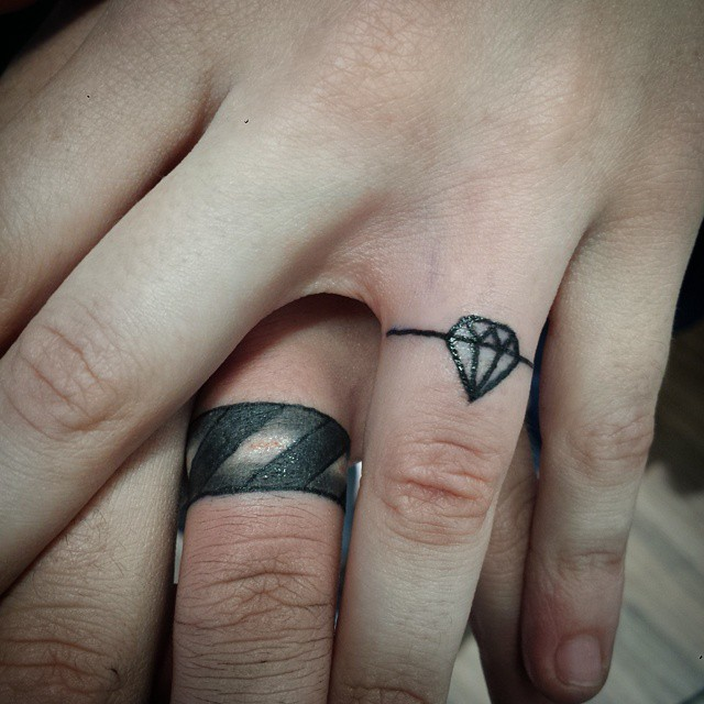 55+ Wedding Ring Tattoo Designs & Meanings - True Commitment (2018)